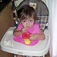 Child in high-chair